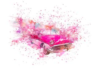 Retro Car Color Splash by Lebens Art