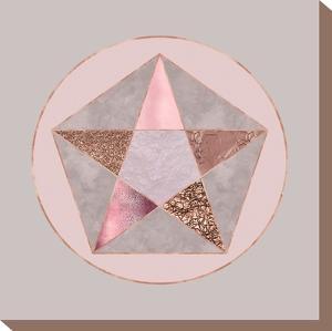Rose Gold Geometry by Lebens Art