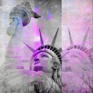 Statue Of Liberty - Square by Lebens Art