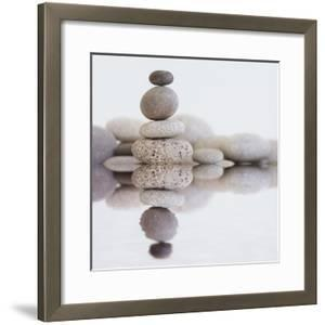 Stone Cairn Water - Square by Lebens Art