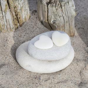 Stone Heart Beach - Square by Lebens Art
