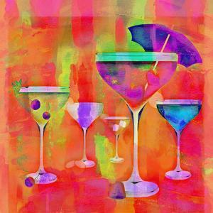 Summer Drinks Colorful - Square by Lebens Art