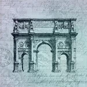 Teal Arc De Triomphe by Lebens Art