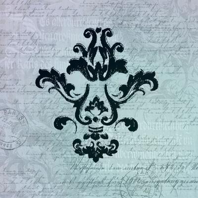 Teal Baroque Ornament