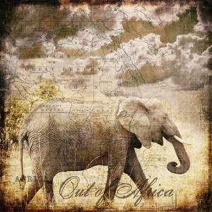 Vintage Elephant - Square by Lebens Art