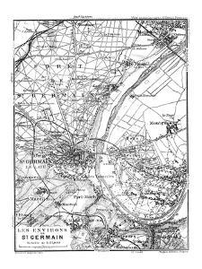 Vintage Paris Map by Lebens Art