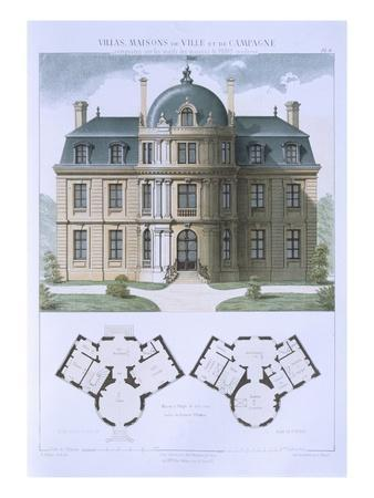 Design from 'Town and Country Houses Based on the Modern Houses of Paris', C.1864 (Colour Litho)