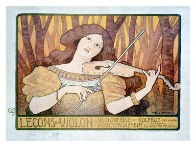 Lecons de Violin-Paul Berthon-Giclee Print