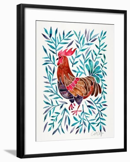Lecoq Green Leaves-Cat Coquillette-Framed Art Print