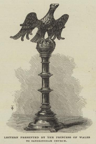 Lectern Presented by the Princess of Wales to Sandringham Church--Giclee Print