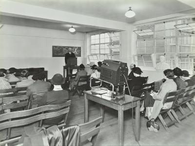 Lecture in Progress, City Literary Institute, London, 1939--Photographic Print