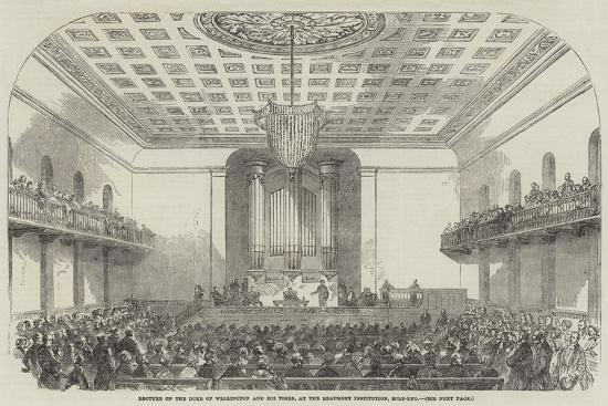 Lecture on the Duke of Wellington and His Times, at the Beaumont Institution, Mile-End--Giclee Print