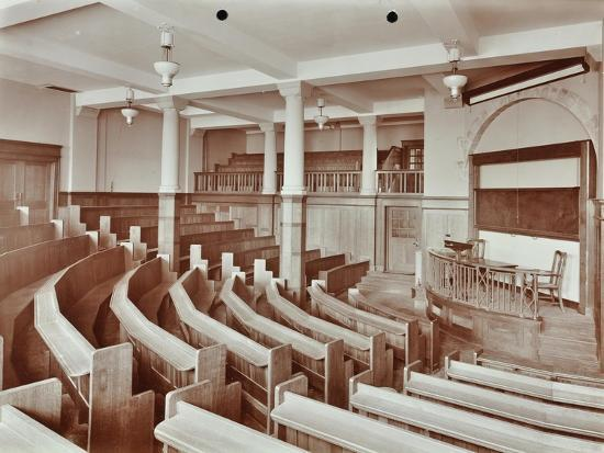 Lecture Theatre, London Day Training College, Camden, 1907--Photographic Print