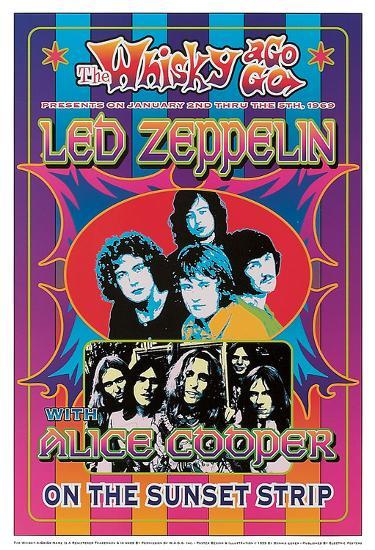 Led Zeppelin, Alice Cooper-Dennis Loren-Art Print
