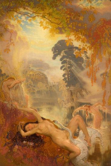 Leda and the Swan, 1928-William Shackleton-Giclee Print