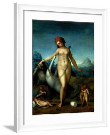 Leda and the Swan, c.1512-13-Jacopo da Carucci Pontormo-Framed Giclee Print