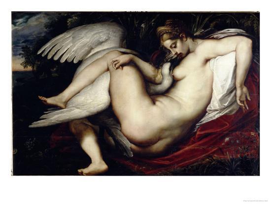 Leda and the Swan-Peter Paul Rubens-Giclee Print