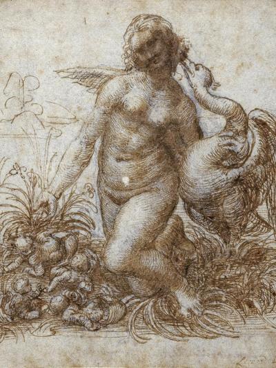Leda and the Swan-Leonardo da Vinci-Giclee Print