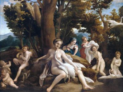 Leda and the Swan-Correggio-Giclee Print