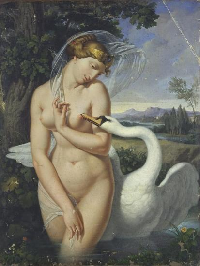 Leda and the Swan-Antonio Raffaele Calliano-Art Print