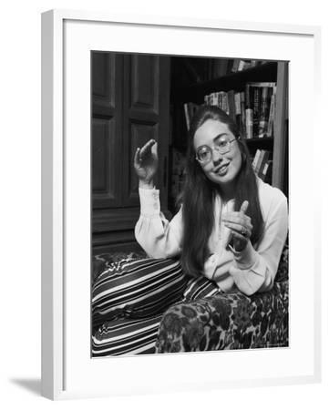 Future First Lady and Senator Hillary Rodham While at Wellesley College