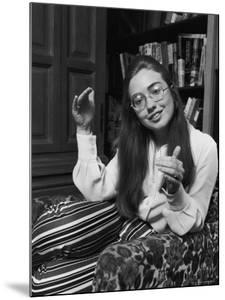 Future First Lady and Senator Hillary Rodham While at Wellesley College by Lee Balterman