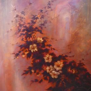 Esprit des Fleurs  2020  (oil on canvas) by Lee Campbell