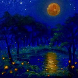 Nightlightsoil on canvas by Lee Campbell
