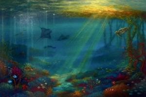Tropical Rays  oil on canvas by Lee Campbell