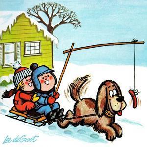 Dog Sledding - Jack & Jill by Lee de Groot