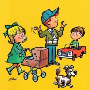 Safe Crossing - Jack & Jill by Lee de Groot