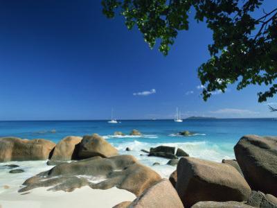 Beach Scene, Anse Lazio, Praslin, Seychelles, Indian Ocean, Africa by Lee Frost