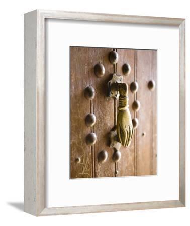 Brass Hand of Fatima Door Knocker, a Popular Symbol in Southern Morocco, Merzouga, Morocco