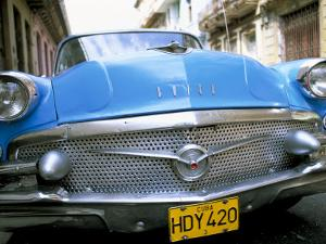 Buick, Old American Car, Havana, Cuba, West Indies, Central America by Lee Frost