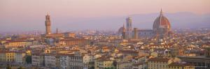 Dawn Over Florence Showing the Duomo and Uffizi, Tuscany, Italy by Lee Frost