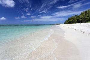 Idyllic Beach Scene with Blue Sky, Aquamarine Sea and Soft Sand, Ile Aux Cerfs by Lee Frost