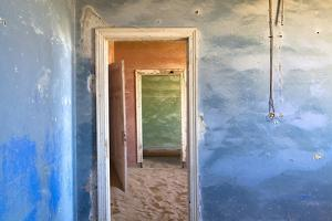 Interior of Building Slowly Being Consumed by the Sands of the Namib Desert by Lee Frost