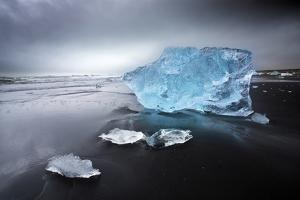 Jokulsa Beach on a Stormy Day by Lee Frost