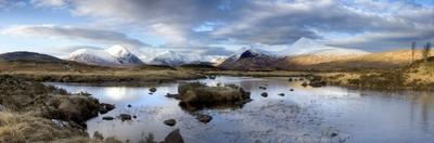 Lochain Na H'Achlaise Towards the Mountains of the Black Mount Range, Scotland