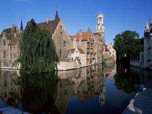 Looking Towards the Belfry of Belfort Hallen, Bruges, Belgium by Lee Frost