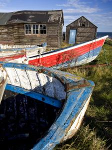 Old Fishing Boats and Delapidated Fishermens Huts, Beadnell, Northumberland, United Kingdom by Lee Frost