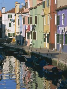 Painted Houses, Burano, Venice, Veneto, Italy, Europe by Lee Frost