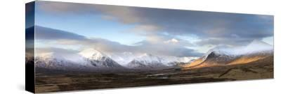 Panoramic View Across Rannoch Moor Towards Mountains of the Black Mount Range, Scotland