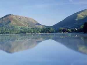Perfect Reflection in Early Morning, Grasmere, Near Ambleside, Lake District, Cumbria, England by Lee Frost
