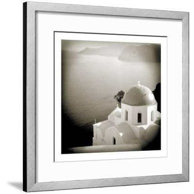 Polaroid of Domed Church, Oia, Santorini, Cyclades, Greek Islands, Greece, Europe