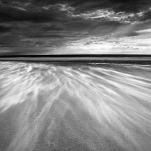 Sand Blowing across the Beach, Alnmouth, Alnwick, Northumberland, England, United Kingdom, Europe by Lee Frost