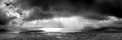 Storm over the Sea Between Eigg and the Mainland, Highland, Scotland, UK