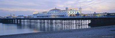 The Beach and Palace Pier, Brighton, East Sussex, England, UK, Europe