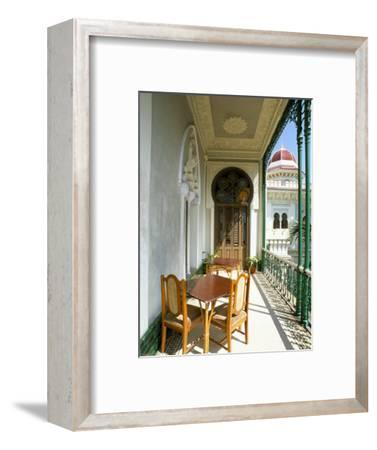 View Along Balcony at the Palacio De Valle, Cienfuegos, Cuba, West Indies, Central America