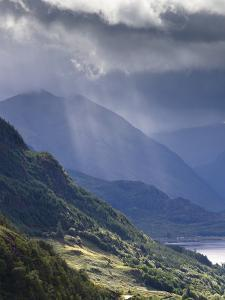 View from Carr Brae Towards Head of Loch Duich and Five Sisters of Kintail with Sunlight Bursting T by Lee Frost